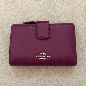 Coach Plum Pebble Leather Wallet